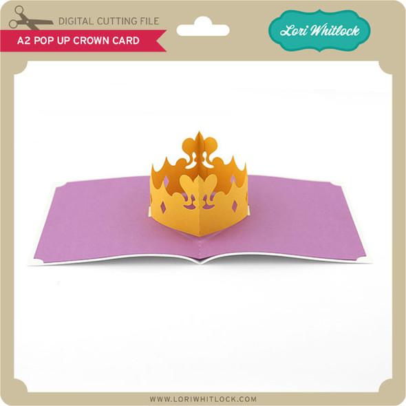 A2 Pop Up Crown Card