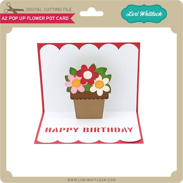 A2 Pop Up Flower Pot Card