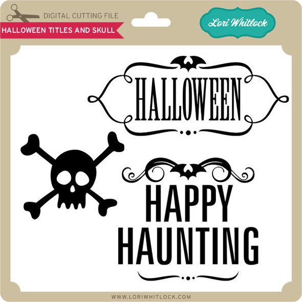 Halloween Titles and Skull