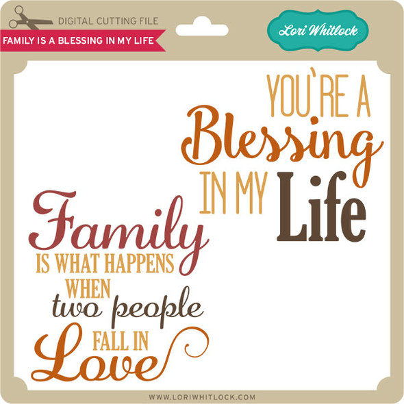 Family Is A Blessing In My Life