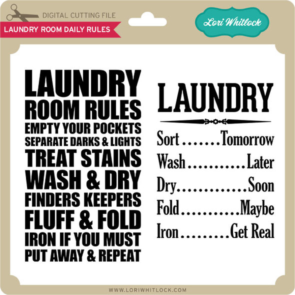 Laundry Room Daily Rules