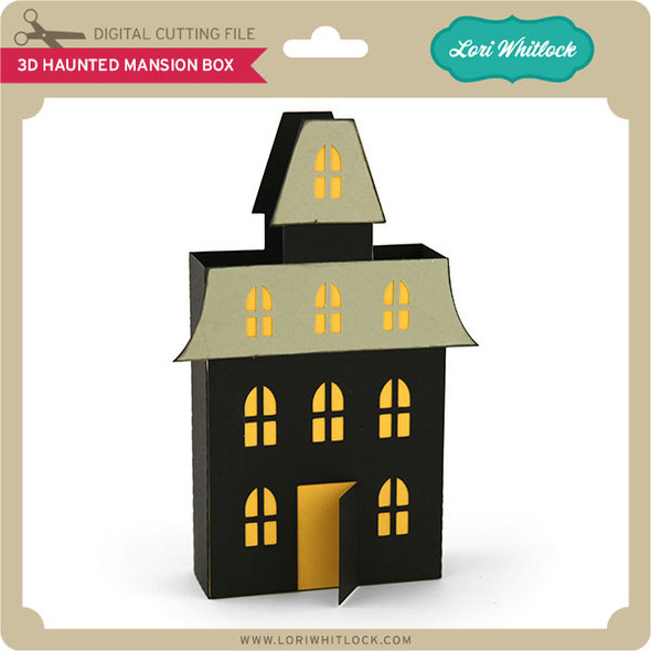 3D Haunted Mansion Box
