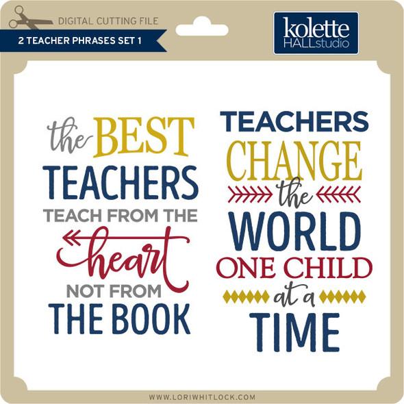 2 Teacher Phrases Set 1