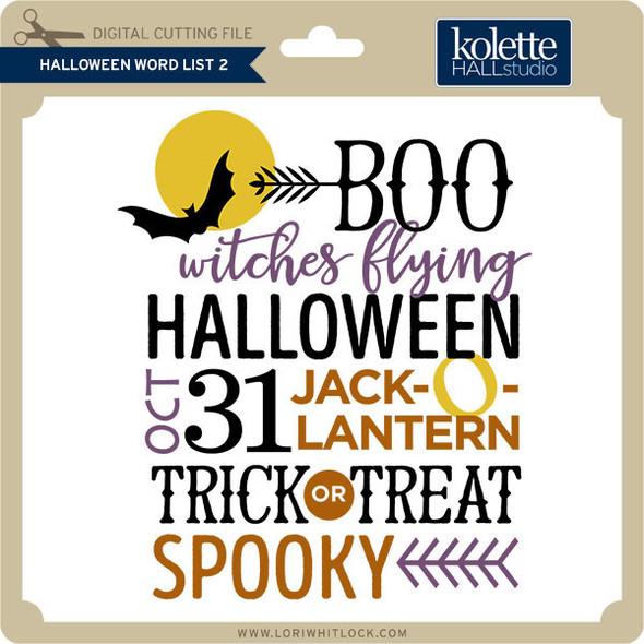 Halloween Word List 2