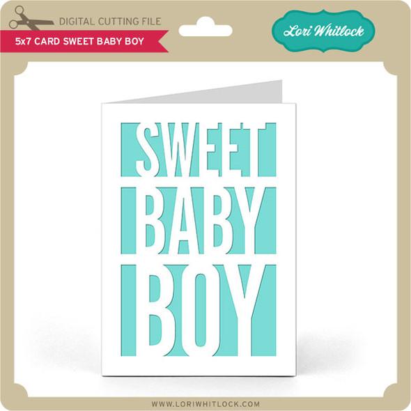 5x7 Card Sweet Baby Boy