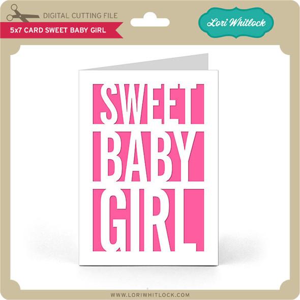 5x7 Card Sweet Baby Girl