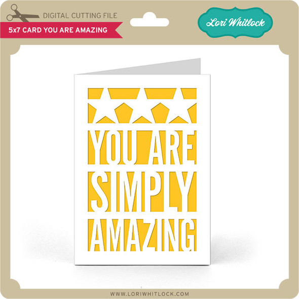 5x7 Card You Are Amazing