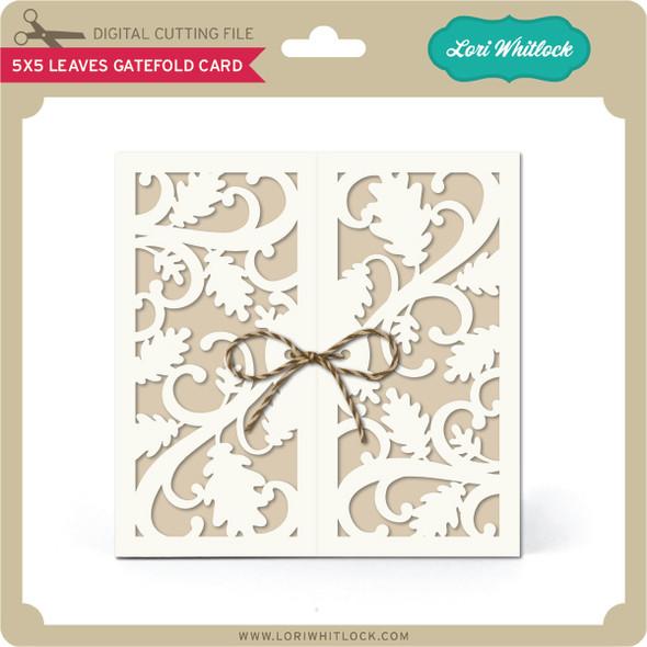 5x5 Leaves Gatefold Card