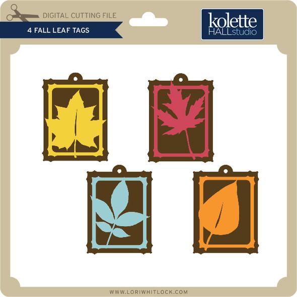 4 Fall Leaf Tags