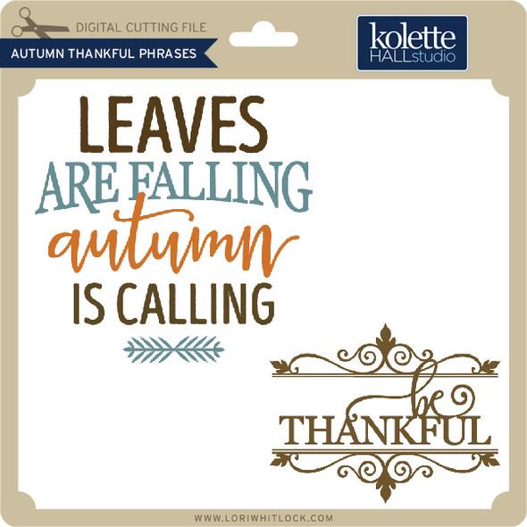 Autumn Thankful Phrases