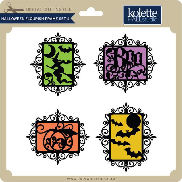 Halloween Flourish Frame Set 4