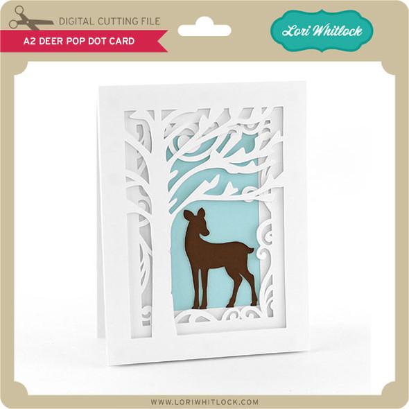 A2 Deer Pop Dot Card