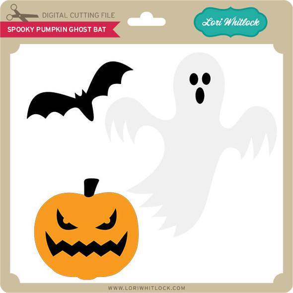 Spooky Pumpkin Ghost Bat