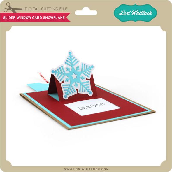 Slider Window Card Snowflake