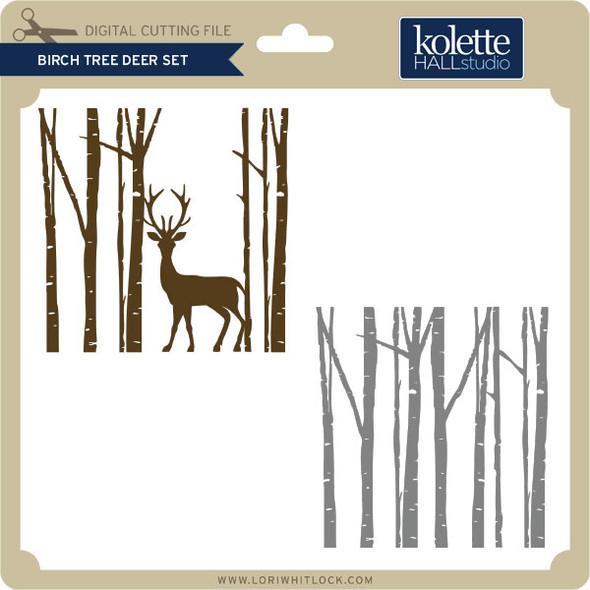 Birch Tree Deer Set