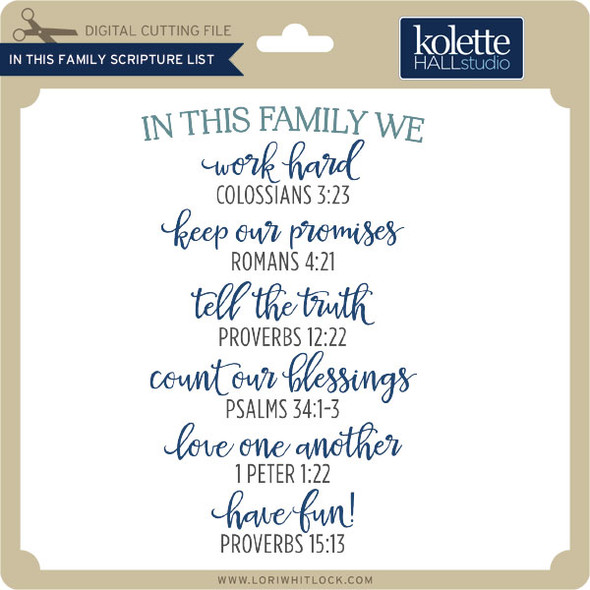 In This Family Scripture List