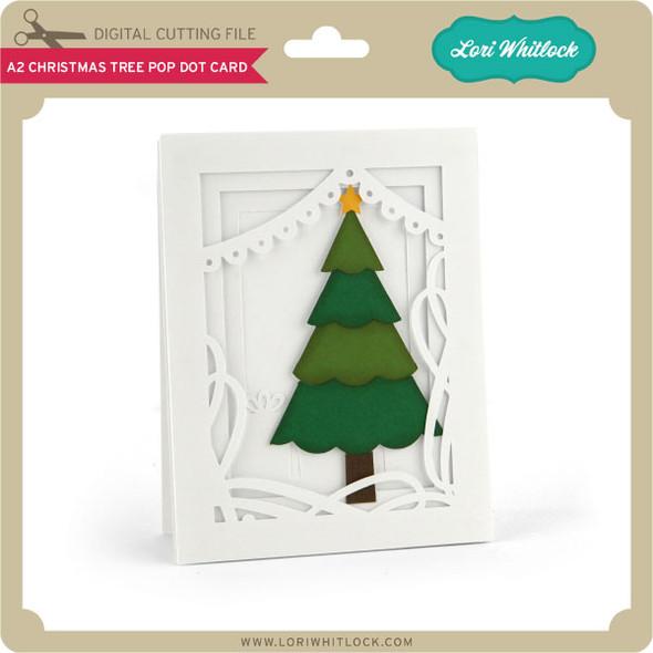 A2 Christmas Tree Pop Dot Card