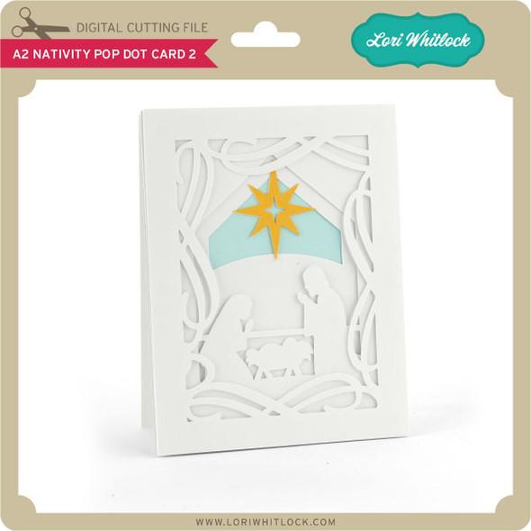A2 Nativity Pop Dot Card 2