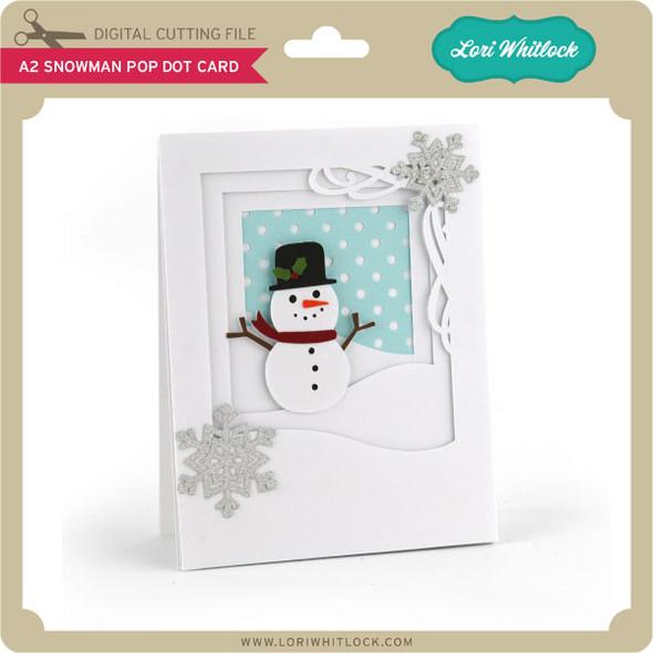 A2 Snowman Pop Dot Card