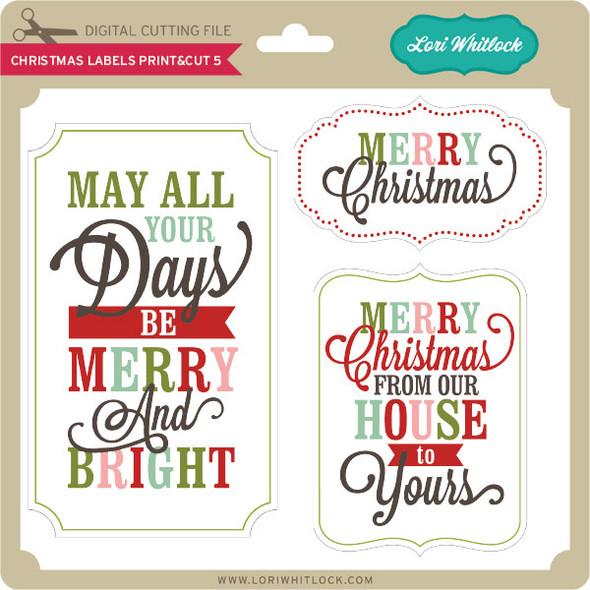 Christmas Labels Print&Cut 5