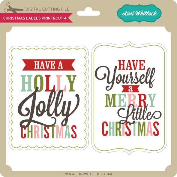 Christmas Labels Print&Cut 4