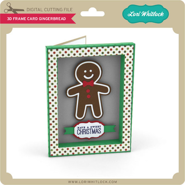 3D Frame Card Gingerbread