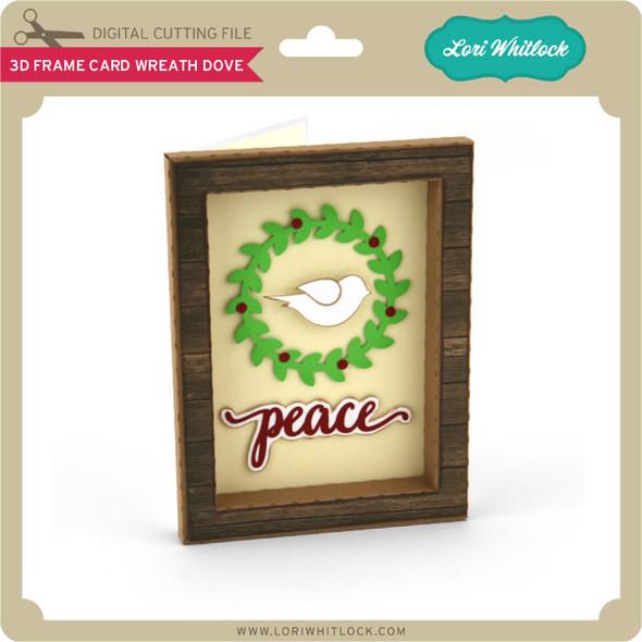 3D Frame Card Wreath Dove