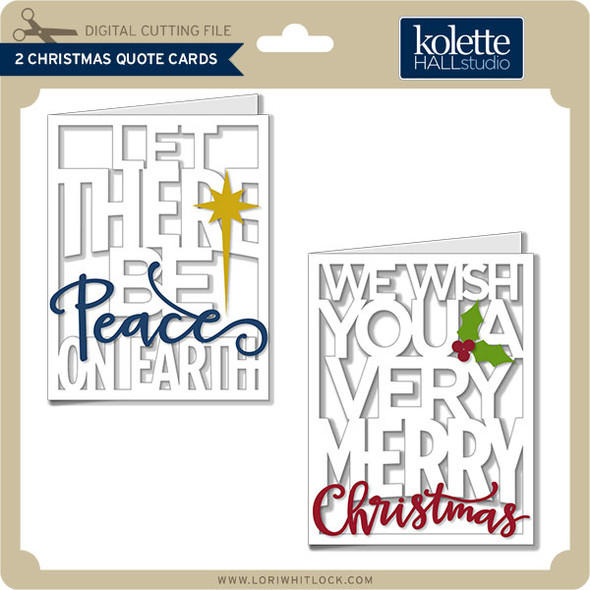 2 Christmas Quote Cards