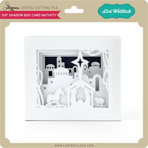 5x7 Shadow Box Card Nativity