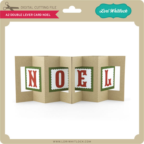 A2 Double Lever Card Noel