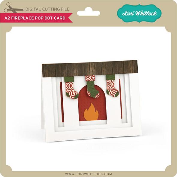 A2 Fireplace Pop Dot Card