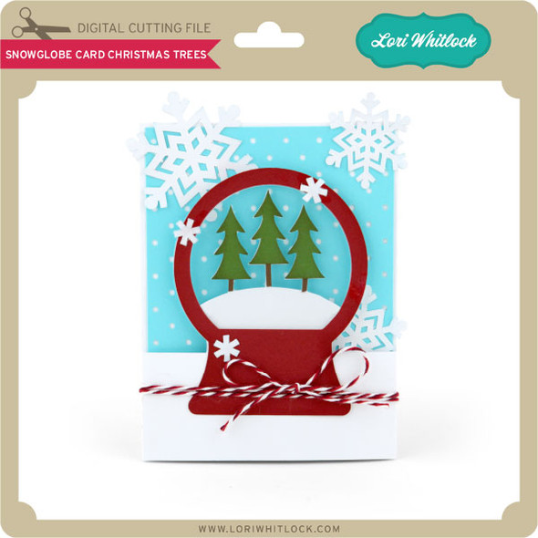 A2 Snowglobe Card Christmas Trees