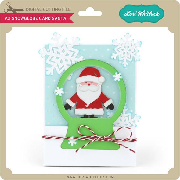 A2 Snowglobe Card Santa