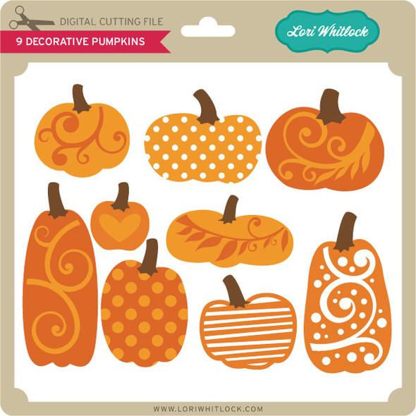 9 Decorative Pumpkins