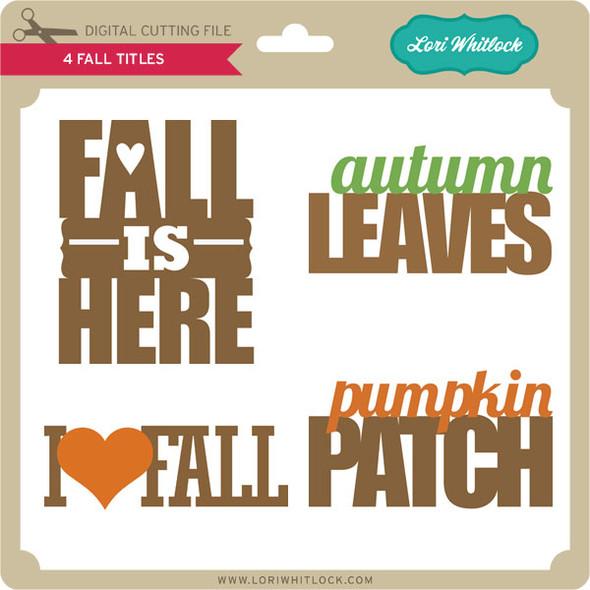 4 Fall Titles