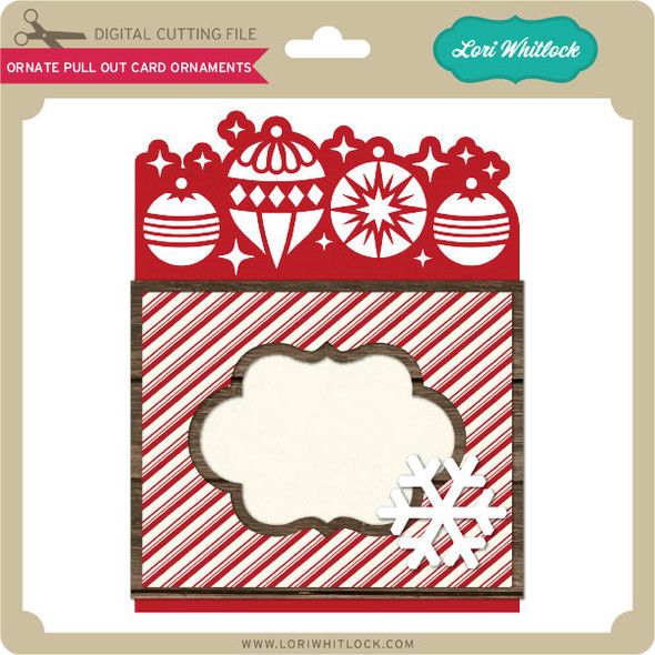Ornate Pull Out Card Ornaments