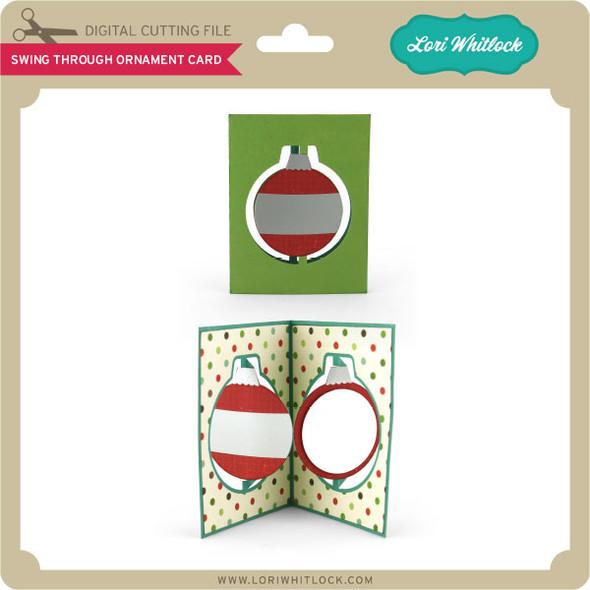 Swing Through Ornament Card