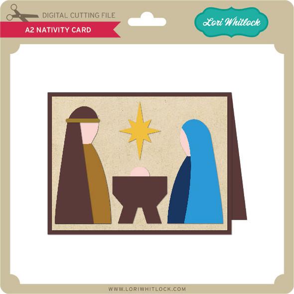 A2 Nativity Card