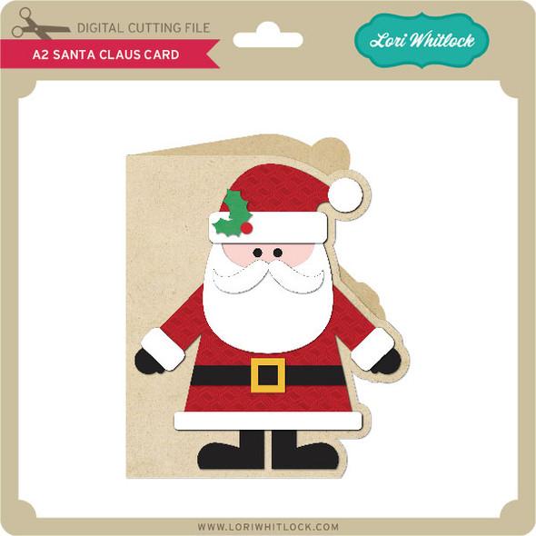 A2 Santa Claus Card