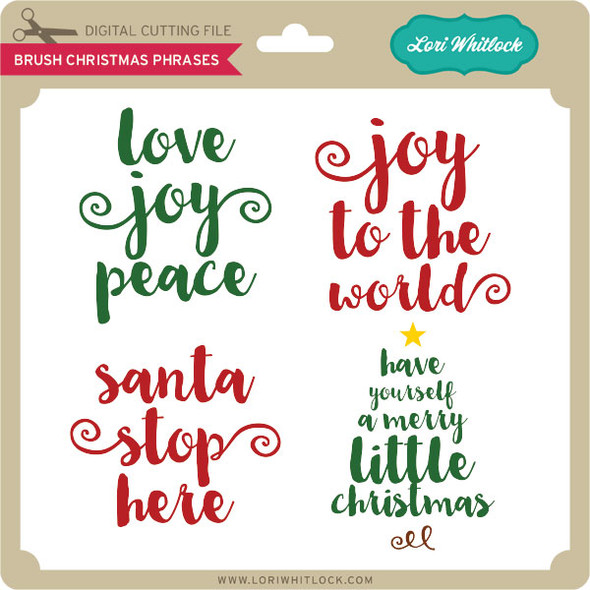 Brush Christmas Phrases