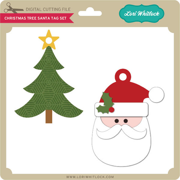 Christmas Tree Santa Tag Set