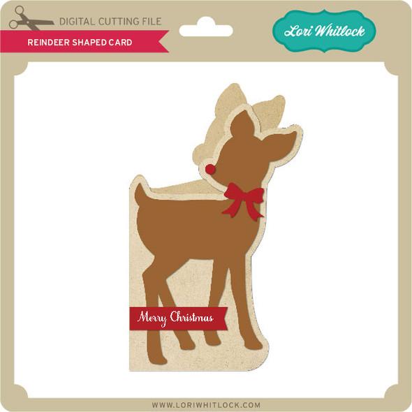 Reindeer Shaped  Card