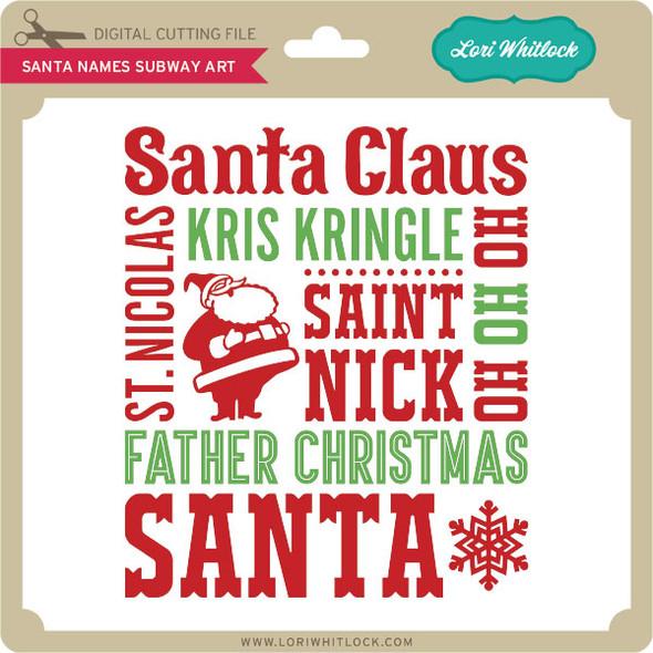 Santa Names Subway Art