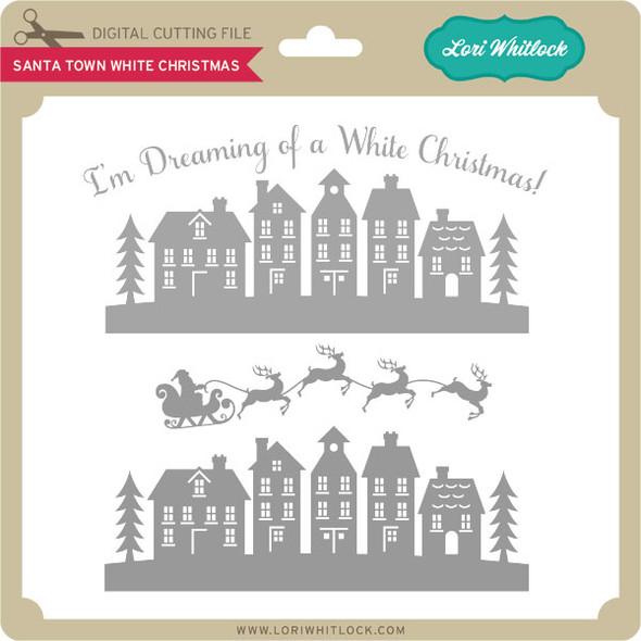 Santa Town White Christmas