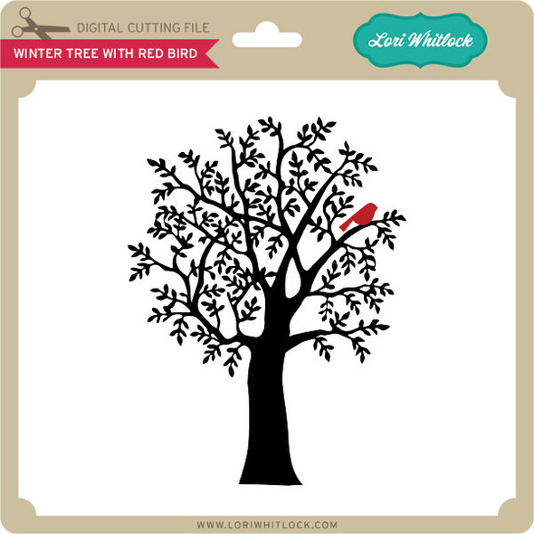 Winter Tree with Red Bird