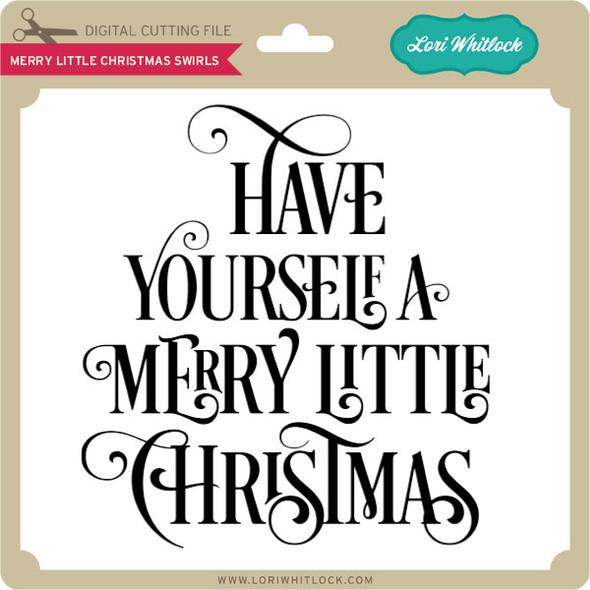 Merry Little Christmas Swirls