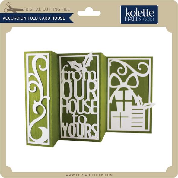 Accordion Fold Card House