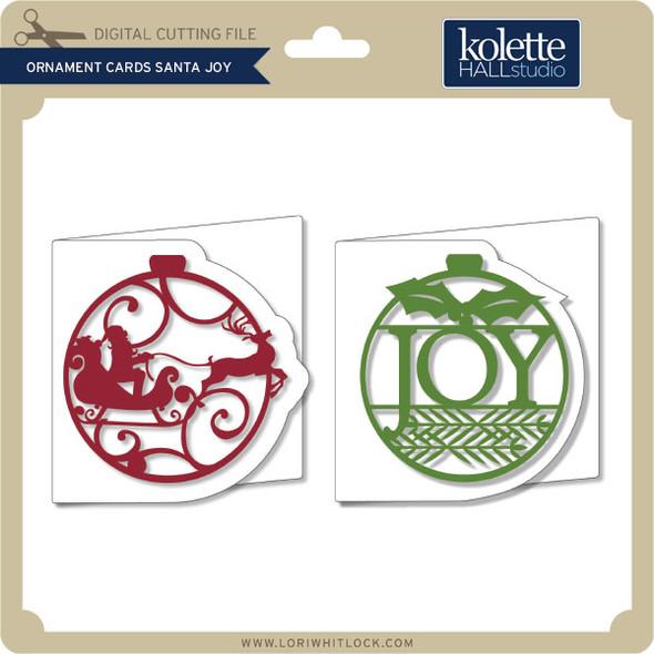 Ornament Cards Santa Joy