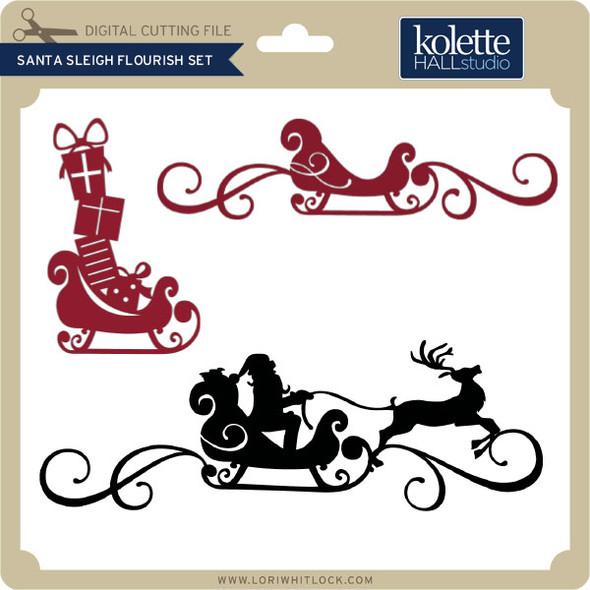 Santa Sleigh Flourish Set