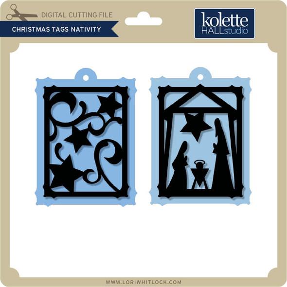 Christmas Tags Nativity